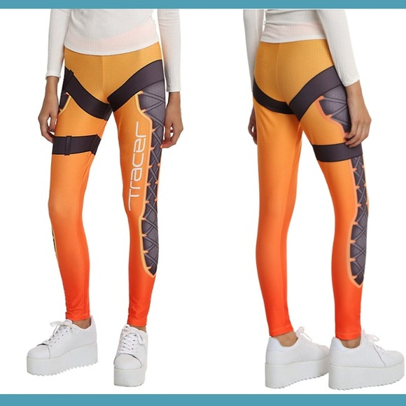 Overwatch Tracer Cosplay Leggings
